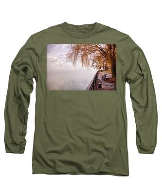 Foggy Niagara Long Sleeve T-Shirt