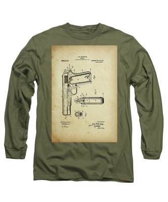 M1911 Browning Pistol Patent Long Sleeve T-Shirt