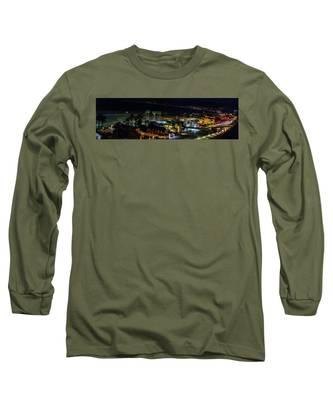 Palisades Park Night - Panorama Long Sleeve T-Shirt