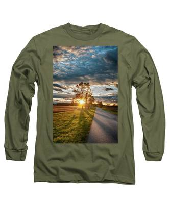 Sunset On The Field Long Sleeve T-Shirt