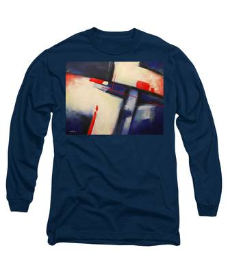Abstract Red Blue Long Sleeve T-Shirt