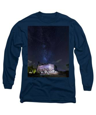 Big Muskie Bucket Milky Way And A Shooting Star Long Sleeve T-Shirt