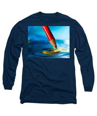 Pencil Water Drop Long Sleeve T-Shirt