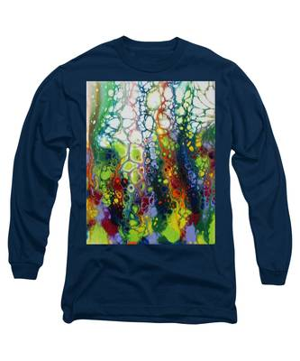 Long Sleeve T-Shirt featuring the painting Bubbles by Vicki Winchester