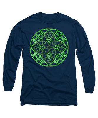 Celtic Clover Mandala Long Sleeve T-Shirt