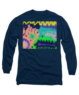 Long Sleeve T-Shirt featuring the painting Creatures by Vicki Winchester