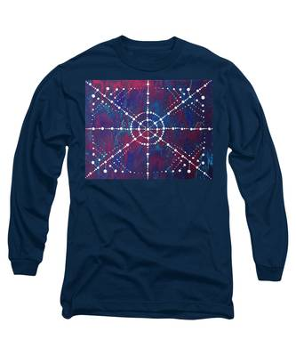 Long Sleeve T-Shirt featuring the painting Doted Pour by Vicki Winchester