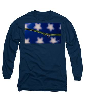 flag on a Wire Long Sleeve T-Shirt