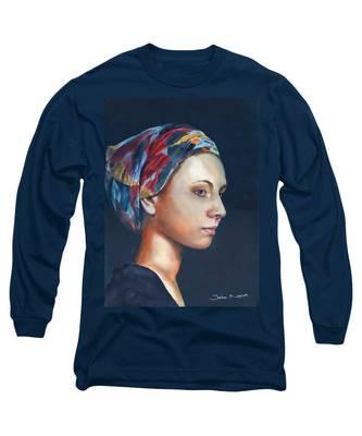 Girl With Headscarf Long Sleeve T-Shirt