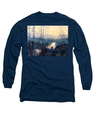 Last Light On Skipwith Marshes Long Sleeve T-Shirt