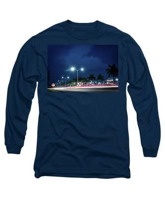 Night Lights In Montego Bay City Long Sleeve T-Shirt