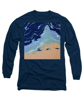 Long Sleeve T-Shirt featuring the painting Rolling Tides by Vicki Winchester