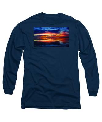 Sunrise Rainbow Reflection Long Sleeve T-Shirt