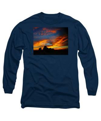 Sunset Ybor City Tampa Florida Long Sleeve T-Shirt