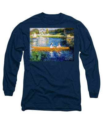 Renoir Boating On The Seine Long Sleeve T-Shirt