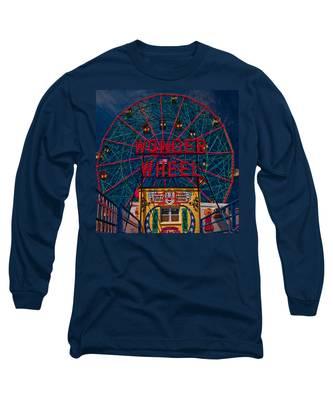 The Wonder Wheel At Luna Park Long Sleeve T-Shirt