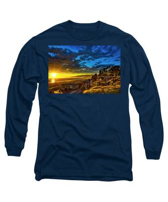 Santa Monica Bay Sunset - 10.1.18 # 1 Long Sleeve T-Shirt