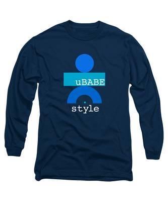 Blue Babe Long Sleeve T-Shirt