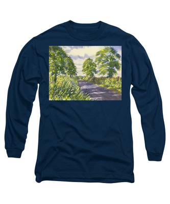 Hedgerows On Rudston Road Long Sleeve T-Shirt
