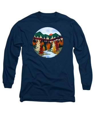 Mountain Stream Long Sleeve T-Shirts
