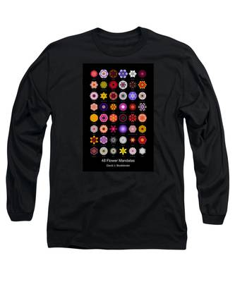 48 Flower Mandalas Long Sleeve T-Shirt