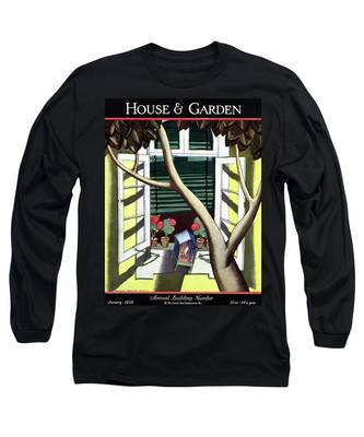 A House And Garden Cover Of A Birdcage Long Sleeve T-Shirt