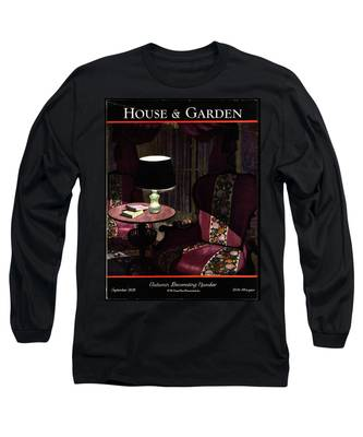 A House And Garden Cover Of A Lamp By An Armchair Long Sleeve T-Shirt