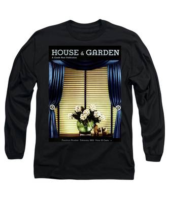 A House And Garden Cover Of Flowers By A Window Long Sleeve T-Shirt