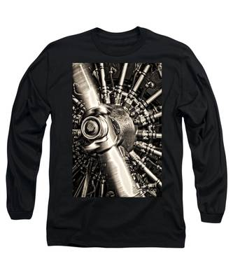 Antique Plane Engine Long Sleeve T-Shirt