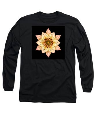 Asiatic Lily Flower Mandala Long Sleeve T-Shirt