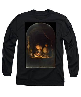 Astronomer By Candlelight Long Sleeve T-Shirt