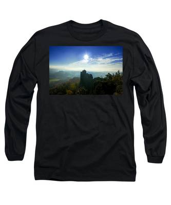 Autumn Sunrise In The Elbe Sandstone Mountains Long Sleeve T-Shirt