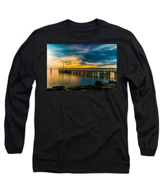 Birds On The Dock Long Sleeve T-Shirt