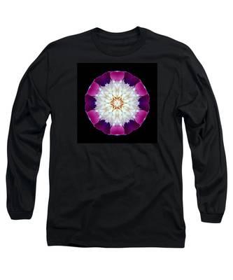 Bowl Of Beauty Peony II Flower Mandala Long Sleeve T-Shirt