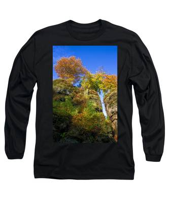 Colorful Trees In The Elbe Sandstone Mountains Long Sleeve T-Shirt