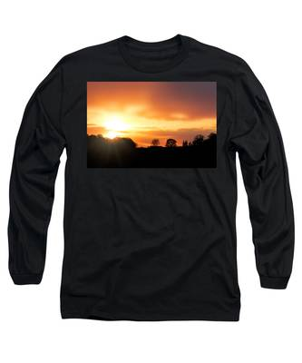 Country Sunset Silhouette Long Sleeve T-Shirt