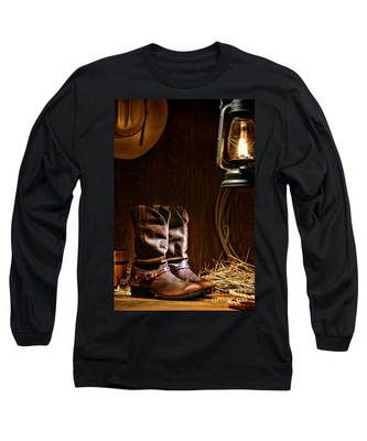 Cowboy Boots At The Ranch Long Sleeve T-Shirt
