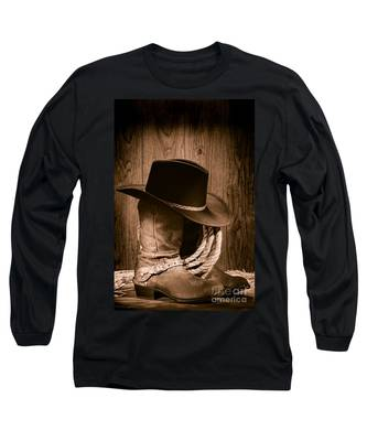 Cowboy Hat And Boots Long Sleeve T-Shirt