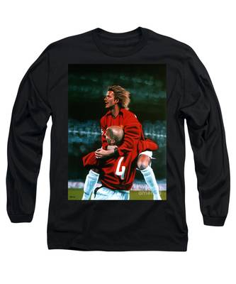 David Beckham Soccer Long Sleeve T-Shirts