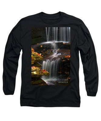 Falls And Fall Leaves Long Sleeve T-Shirt
