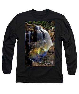 Falls And Rainbow Long Sleeve T-Shirt