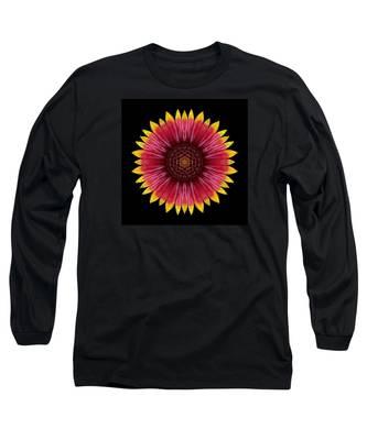 Galliardia Arizona Sun Flower Mandala Long Sleeve T-Shirt