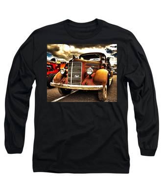 Hdr Fire Truck Long Sleeve T-Shirt
