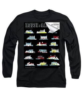 House & Garden Cover Illustration Of 18 Houses Long Sleeve T-Shirt