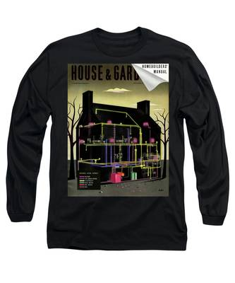House And Garden Cover Illustration Of The Internal Long Sleeve T-Shirt