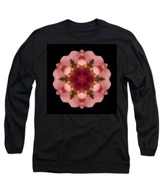 Iris Germanica Flower Mandala Long Sleeve T-Shirt