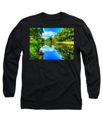 Lake Scene Long Sleeve T-Shirt