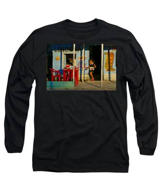 Long Sleeve T-Shirt featuring the photograph Loncheria by Skip Hunt