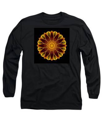 Marigold Flower Mandala Long Sleeve T-Shirt