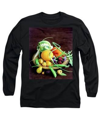 Seasonal Fruit And Vegetables Long Sleeve T-Shirt